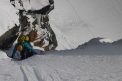 Traumwetter beim Ausstieg aus der Mayerlrampe. Diese letzte Länge unter der Grögerschneid ist übrigens genial. Das Gelände hat sich schon zurück gelegt, vielleicht noch 60° und ist einfach nur schön. Erinnert an Patagonien:)