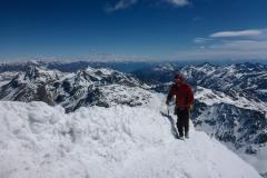 am Gipfel der Königsspitze