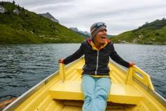 Auf dem Rückweg noch eine kurze Schifferlfahrt auf dem Partnunsee. Mit wackeln!