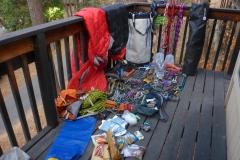 Einpackeln noch im Hostel...im Camp 4 war kein Platz zu kriegen