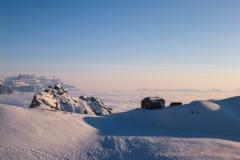 Am nächsten Morgen von der Claridenhütte los Richtung Südwest