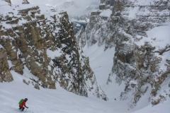 Die Steile Stelle am Anfang vom Val Mezdi.