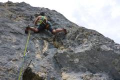 Danach eine herrlich zu kletternde 6er-Länge