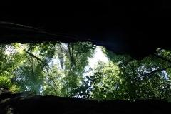 Manchmal nur einen Meter breit ist der Blick nach oben der einzige Ausweg