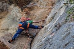 Einzig die Ausstiegslänge, die eigentlich nicht mehr zur Route gehört ist richtig gutes klettern