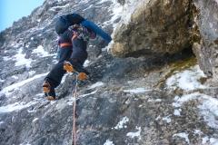 Im Moment kein Eis  in der Route welches die Kletterei vereinfachen würde. Wir fandens deutlich anspruchsvoller als M5
