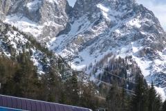 Aus dem Skigebiet sieht man nochmal die ganze Rinne