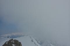 Vom Geier nach Osten runter ins Joch und von dort nach Norden das Kar richtung Lizumer Hütte. Garnicht einfach zu beurteilen aber eine Route kleiner 30° ist möglich...wenn man sie sieht