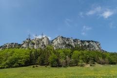 Kletterfelsen Rüttelhorn - mit den 3 markanten Hochspannungsleitungen