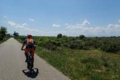 Auf dem Weg von Balazuc über Chauzon nach Pradons. Hübsche Radtour