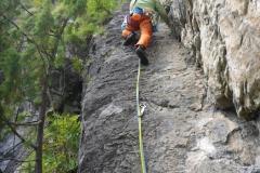 abwechslungsreiche Kletterei
