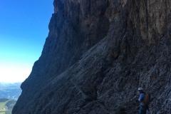 nach dem schweren klettern folgt feines Bergsteigen. Wir starten um 6:30 zum Langkofen Normalweg. Kaaalt!