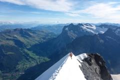 kurz vor dem Gipfel kommen ziemlich steile Firnpassagen...