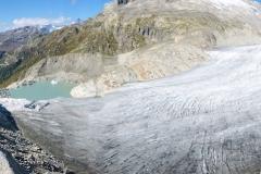 Am fogenden Tag Plaisier über dem Rhonegletscher