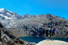 Laguna Churup (4450 m) - endlich oben. Freude!