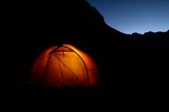 Quebrada Cayesh - frühe Bedrhe auf  4350 m (~18:30)
