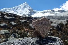 Nevado Pisco (5752m) mit Herz - wir nehmen es als gute Omen
