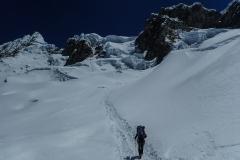 Aufstieg zum Alpamayo high camp (HC, ~5500m)