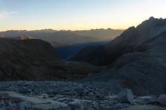 von der Hütte weg erstmal viel Schotter auf dem Sentiero della Scalaza...