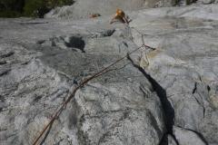 Lift off vom Pine Ledge um die ersten 4 Längen zu fixieren