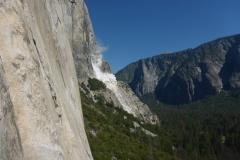 kurz unterm Sickle Ledge dann der erste Felssturz...