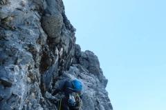 schwer ist die Kletterei nie, aber durchaus anspruchsvoll in der Wegfindung