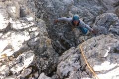 ...Tags darauf beobachteten wir eine Menge Leute die am Ausstieg herumliefen und ordentlich Steine in die Rinne beförderten. Die Zusätzliche 5er-Länge entschädigt da bestimmt