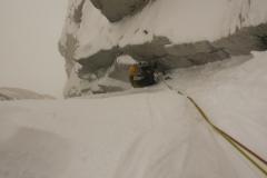 die letzte Seillänger der Amy-Vidalheit. der Weiterweg zum Gipfel ist mit der Comesana-Fonrouge identisch