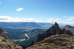 Oberhalb der Rinne aus der wir gekommen waren dann erstmal Pause in der Sonne, Aussicht geniessen und Condore beobachten