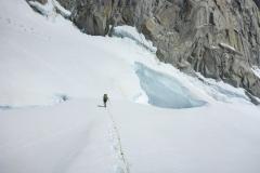 Über dem Paso Superior auf dem Glaciar Piedras Blancas