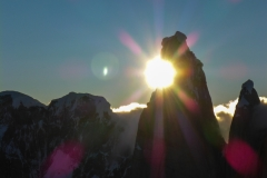 Sonnenuntergang hinterm Cerro Torre
