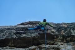 Tags darauf in der gleichen Ecke im Klettergarten Torre de Lluc