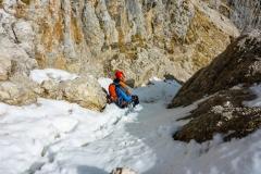 Der Schnee im Abstieg sollte bald weg sein
