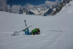 zurück zur Hütte sind die Ski wieder von grossem Vorteil. Der Sulz wird echt tief am früher Nachmittag