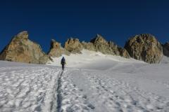 Rechts im Bild Aiguille du Tour N und S-Gipfel.