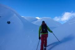 """Das """"Gipfelplateau"""" ist landschaftlich einfach herrlich. Wie in nem Mittelgebirge läuft mal durch hügeliges Gelände dahin und kann immer neues entdecken. Im Nebel aber a echts gschiss glaub ich"""