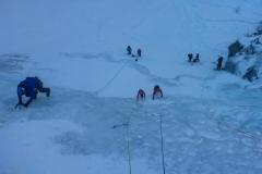 Abschlusstour am Montag der Jarzahlwand Eisfall