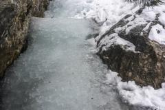 Nach oben hin wurde es immer wärmer, es fliesst noch gut Wasser. Bei den derzeot noch kalten Nächten sollts noch a bisslaufbauen können