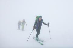 Bald wird der Nebel dichter aber dafür kommt kalter Wind auf