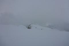 Wieder rauf auf den Sass Pordoi und rüber, unterm Piz Boe vorbei zum Val Mezdi. Das Wetter spielt kurzzeitig nicht so mit
