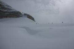 Aber genau da wo wirs brauchen, ab dem Rifugio Boe, wird das Wetter besser und die Sicht gut