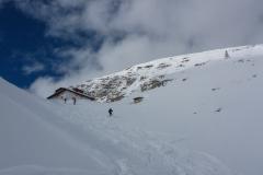 Wir starten zum Einstieg von der Podoihütte ins Val Lasties