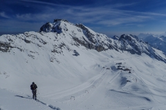 Nordseitig war der Schnee noch sehr verheissungsvoll