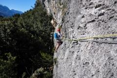 Am Ostermontag dann früh in eine leichte, kürzere Tour: La Fuga dall Hades. Erstens wollen wir den Plaisiergedanken nicht zu kurz kommen lassen...zweitens um 17h in Innsbruck sein