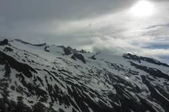 100m vor der Kürsinger Hütte hört der Regen auf und das Wetter verhält sich weiterhin wie von der ZAMG bestimmt.