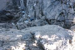 Die letzte Seillänge gleich unterm Gipfel der Ellmauer Halt