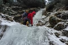 Bis oben hin gehts im Eis. Nicht schlecht für einen 16. Dezember:)