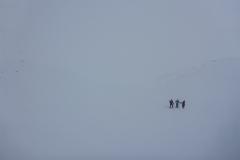 Am nächsten Morgen dann ordentlich Nebel und 40cm Neuschnee