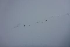 Wir spuren Richtung Torspitze/Eiskarjoch um zur Weidener Hütte zu kommen aber Setzungsgeräusche lassen uns nach einer guten Stunde umkehren