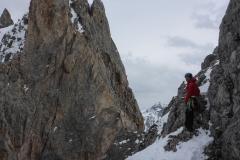 Auf der Nordseite noch winterlich aber fein zu klettern